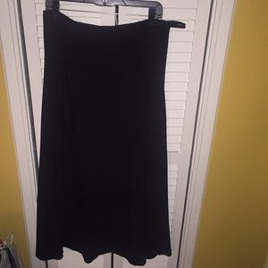 Black Talbots long fully lines dress skirt 14W
